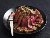 Rindfleisch mit Sesamsauce Rezept