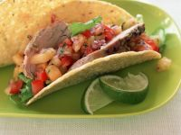 Rindfleisch-Tacos mit Salsa Rezept