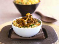 Rindfleischpfanne mit Reis Rezept