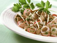 Rindfleischsalat mit Radieschen Rezept