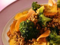 Risotto aus Grünkern mit Karotten und Brokkoli Rezept