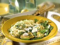 Risotto mit grünem Gemüse Rezept