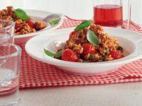 Risotto mit Hack und Tomaten Rezept