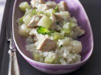 Risotto mit Kohlrabi und Hähnchen Rezept