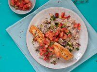 Risotto mit Lachs und Erdbeeren Rezept