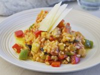 Risotto mit Ratatouille-Gemüse Rezept