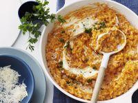 Risotto mit Tomate und Parmesan Rezept
