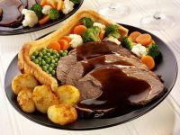 Roastbeef auf englische Art mit Yorkshire Pudding Rezept
