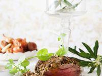 Roastbeef mit Senf-Oliven-Kruste Rezept