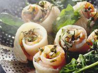 Röllchen von Seezunge, Lachs und Spinat Rezept