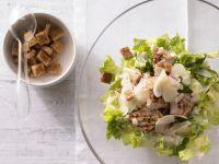 Römersalat mit Zitronenschnitzel Rezept