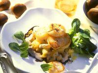 Röstkartoffeln mit Jakobsmuscheln Rezept