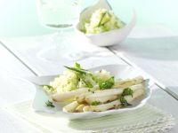 Roh gebratener Spargel mit Kartoffel-Sesam-Schnee Rezept