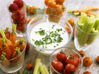Rohkost mit Joghurtsauce Rezept