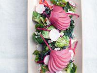 Rosenkohl-Birnen-Salat mit Feta Rezept