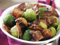 Rosenkohl mit Bacon und Maronen Rezept