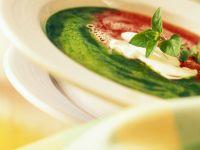 Rot-Grüne Cremesuppe Rezept