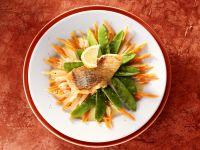 Rotbarsch mit Gemüse