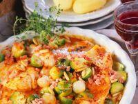 Rotbarsch mit Rosenkohl und Paprika Rezept