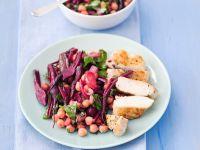 Rote-Bete-Kichererbsen-Gemüse und Hähnchenbrust Rezept