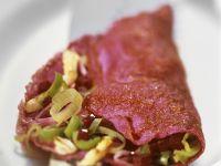 Rote-Bete-Omelett mit Porree Rezept