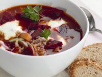 Rote-Bete-Suppe mit Rindfleisch (Borschtsch) Rezept