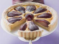 Rotweinbirnen-Kuchen