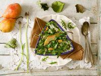 Rucola-Birnensalat mit Parmesan Rezept