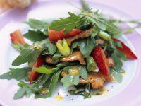 Rucola-Erdbeer-Salat mit Schweinefilet Rezept