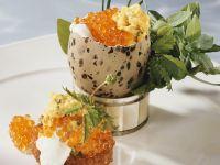 Rührei mit Kräutern und Kaviar Rezept