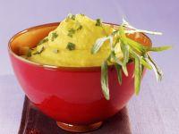 Safran-Kartoffelpüree mit Estragon Rezept