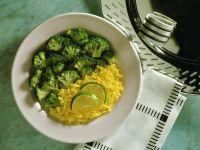Safranreis mit Brokkoli Rezept