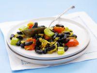 Safranreis mit schwarzen Bohnen Rezept