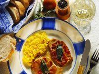 Safranrisotto mit Saltimbocca Rezept