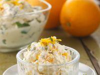 Sahnecreme mit Orangen und Minze Rezept