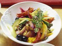 Salat aus Antipasti Rezept