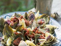 Salat aus Artischocken und getrockneten Tomaten Rezept