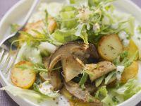 Salat aus Bratkartoffeln und Steinpilzen Rezept
