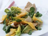 Salat aus Brunnenkresse, Mango und gekochter Putenbrust Rezept