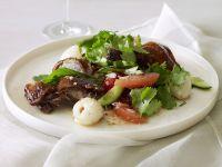 Salat mit Entenbrust, Grapefruit und Lychees Rezept