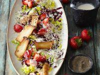 Salat mit Erdbeeren und Kräuterseitlingen Rezept