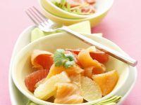 Salat mit Grapefruit und geräuchertem Lachs Rezept