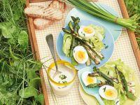 Salat mit grünem Spargel Rezept