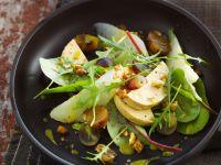 Salat mit herbstlichem Obst und Gänseleber Rezept