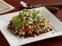 Salat mit Kichererbsen, Bohnen und Rucola Rezept