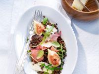 Salat mit Linsen, Feigen und Le Gruyère AOP