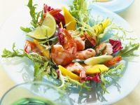 Salat mit Mango und Shrimps Rezept