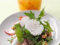 Salat mit Nüssen und Ziegenkäse Rezept