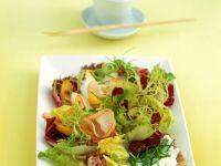 Salat mit Putenschinken