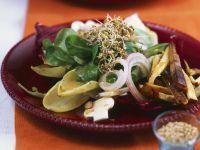 Salat mit Tofu, Champignons und Kleesprossen Rezept